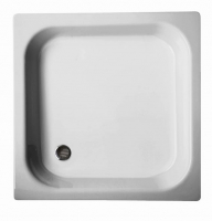 Shower tray Steeel White color Models: 1. Deep 2. Narrow Available Sizes: 70 x 70 cm, 80 x 80 cm Brands: Ariston, Euro, Aristop, Aristom, Mark, Jomix, Brimix & Others Origin: Italy, China, Egypt and Iran